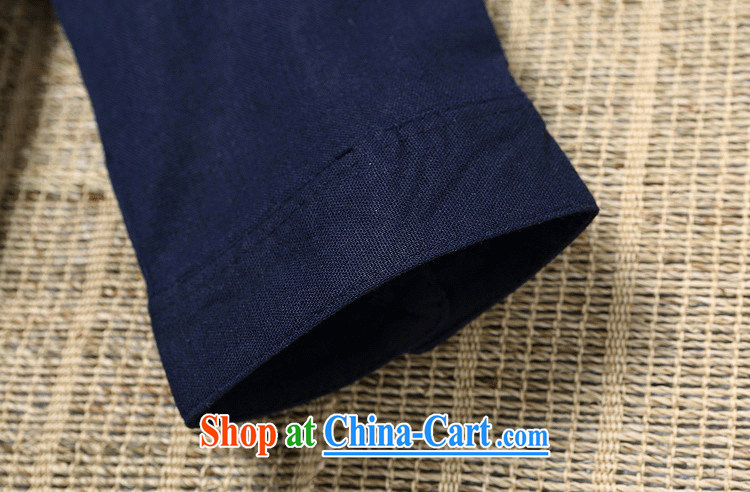 Takes forever love song summer 2015 New Men's China wind Chinese shirt linen thin Kung Fu shirt breathable T-shirt men's summer rock gray XL (size small) pictures, price, brand platters! Elections are good character, the national distribution, so why buy now enjoy more preferential! Health