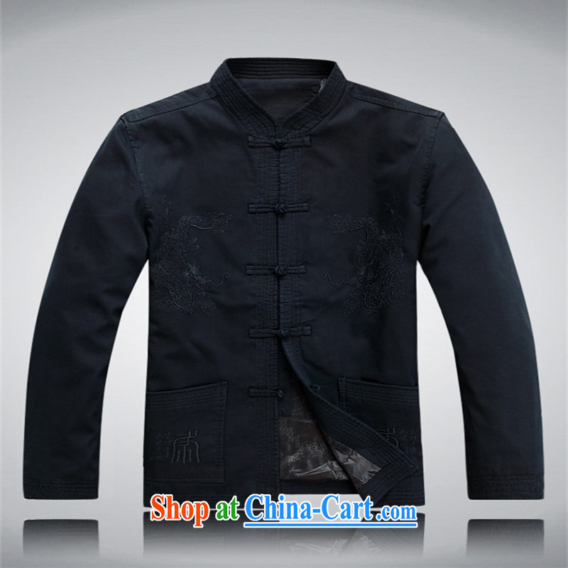 Top Luxury cotton jacket Tang Replace T-shirt 2014 autumn and winter, older men's jackets National wind-tie long-sleeved Tang on the sand wash cotton gray green XXXL/190, and the top luxury, shopping on the Internet