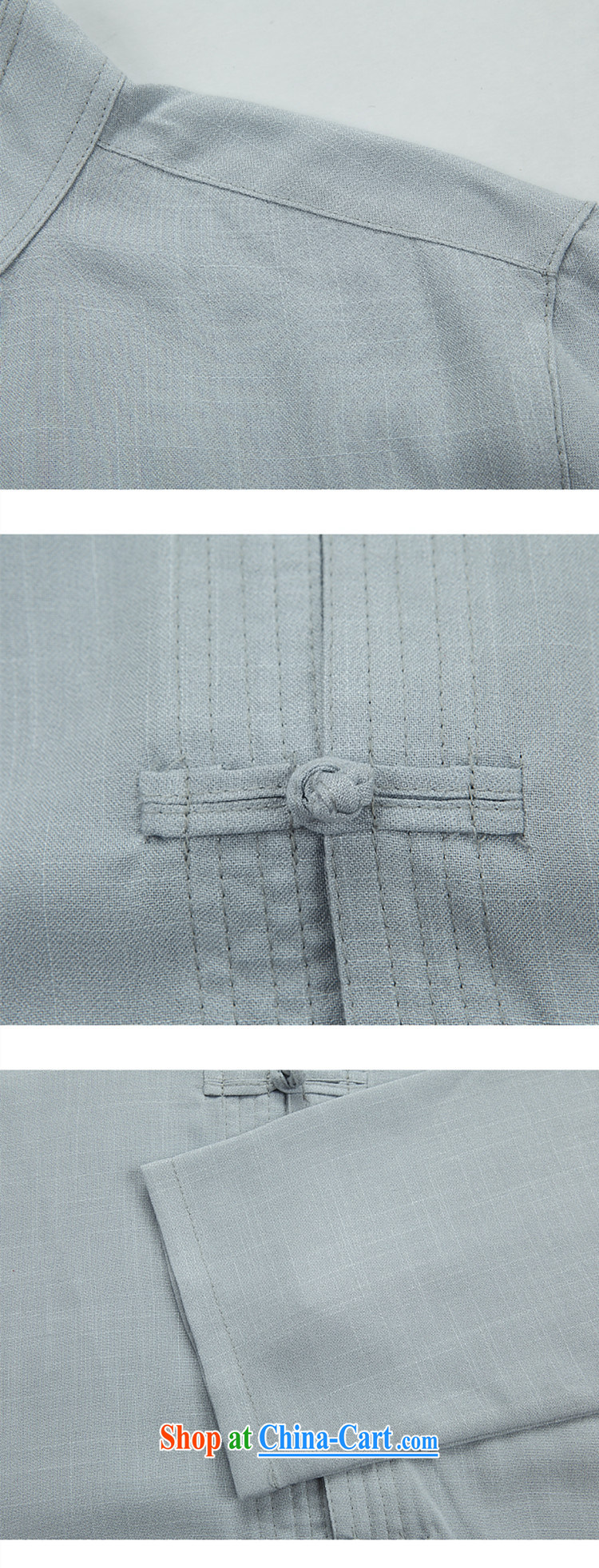 Top Luxury Tang replace Kit long-sleeved in 2014 older package linen Chinese men Tang is included in the kit older kit kit long-sleeved men's gray suit XXXL/185 pictures, price, brand platters! Elections are good character, the national distribution, so why buy now enjoy more preferential! Health