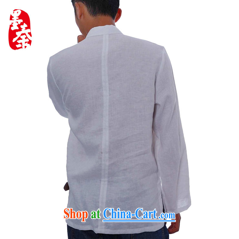 elections the Qin weaving -- Tsing Yi/independent design, for the long-sleeved tie plain linen Chinese casual shirt white S/broken down, and the Qin, shopping on the Internet