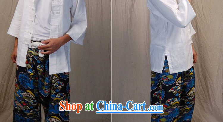 elections the Qin weaving -- original design monk for China, Tang on the back of the hard-pressed retro men and the service/labor, white XXL/Jumbo pictures, price, brand platters! Elections are good character, the national distribution, so why buy now enjoy more preferential! Health