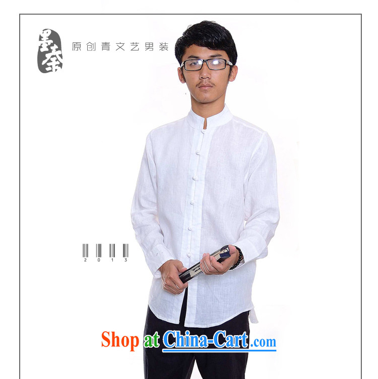 elections the Qin weaving -- the scholar/Men's China wind-tie and collar linen casual shirt 508 white XXL/Jumbo pictures, price, brand platters! Elections are good character, the national distribution, so why buy now enjoy more preferential! Health