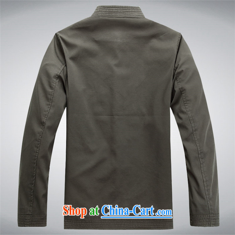 The chestnut mouse Tang replace spring and new men's long-sleeved Tang with stylish lounge loose sand washed cotton long-sleeved Tang with dark gray M pictures, price, brand platters! Elections are good character, the national distribution, so why buy now enjoy more preferential! Health