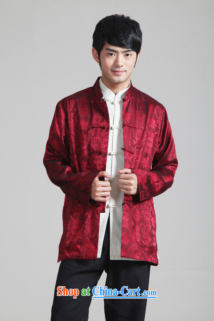 To Green, spring fashion new, older father loaded up for a two-fish jacquard Tang jackets - 3 3 XL pictures, price, brand platters! Elections are good character, the national distribution, so why buy now enjoy more preferential! Health