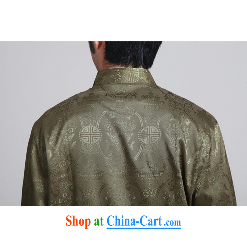 To Green, spring fashion, the older father loaded up for a two-fish jacquard Tang jackets - 3 3 XL, green, and, on-line shopping