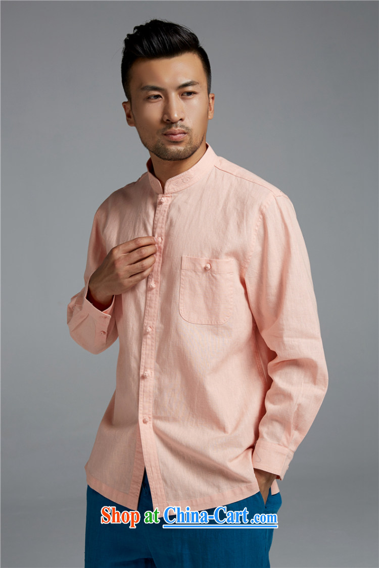 Ask a vegetarian (the health of spring loaded new cotton the Chinese long-sleeved shirt, collar embroidery shirt WXZ 1552 pink XXXL pictures, price, brand platters! Elections are good character, the national distribution, so why buy now enjoy more preferential! Health