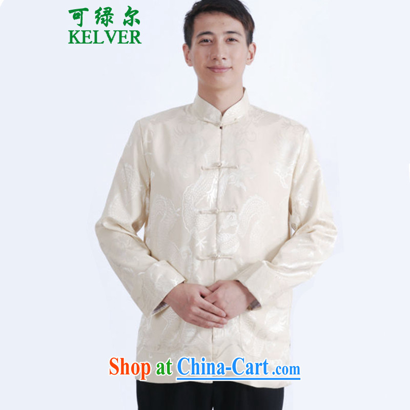 To Green, autumn and winter fashion new and old age with his father, for leisure, what tattoo jacquard Tang Jacket Picture Color 3XL