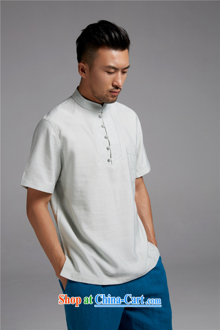 Ask a vegetarian (the health of spring, new Chinese wind-tie, for Chinese short-sleeved cotton shirt Commission WXZ 1470 white XXXL pictures, price, brand platters! Elections are good character, the national distribution, so why buy now enjoy more preferential! Health