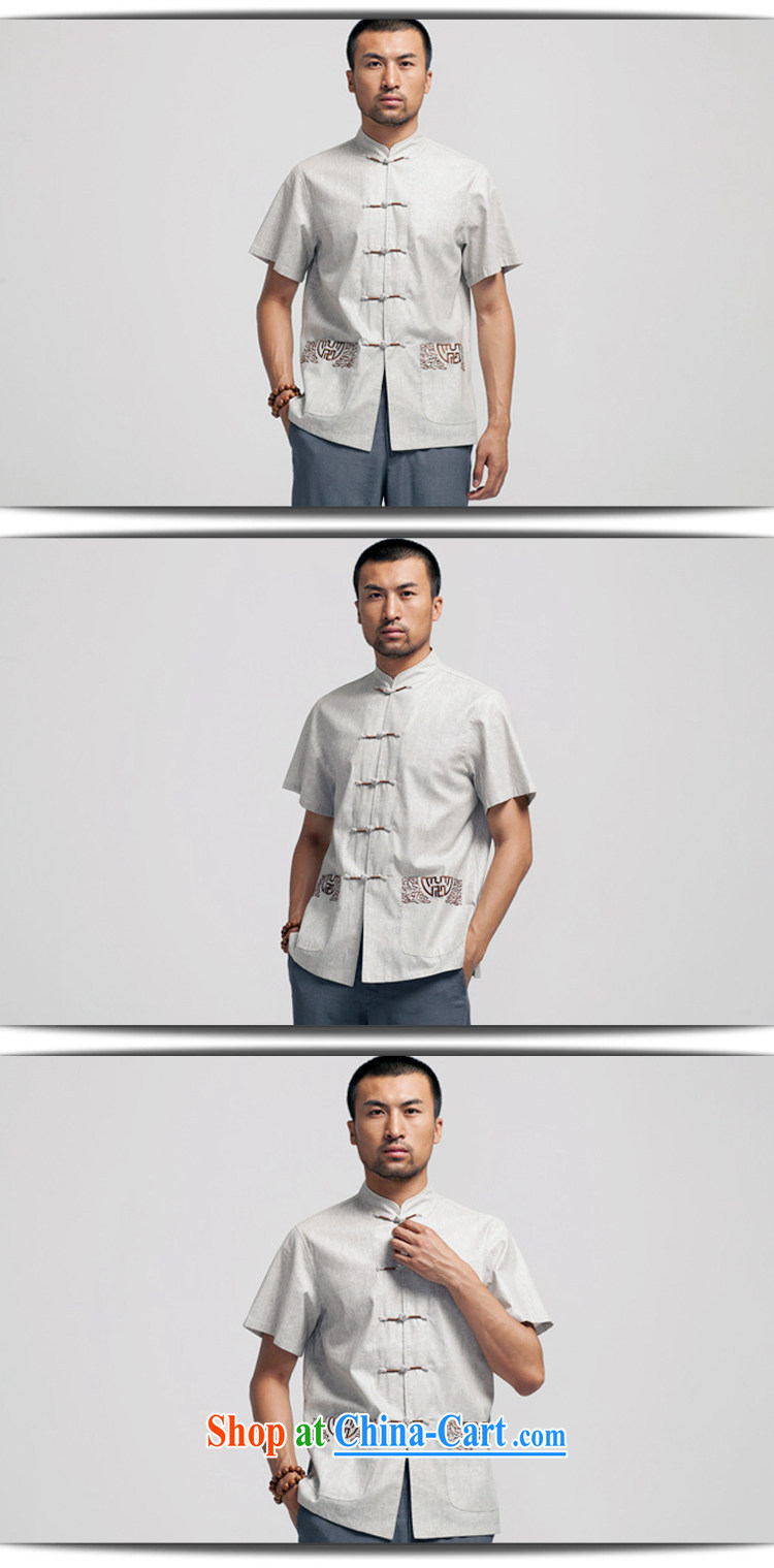 All elections Ramadan's mission as soon as possible and the load spring new Chinese, for the charge-back linen short-sleeve pocket embroidery shirt WXZ 1466 gray XXXXL 185 pictures, price, brand platters! Elections are good character, the national distribution, so why buy now enjoy more preferential! Health