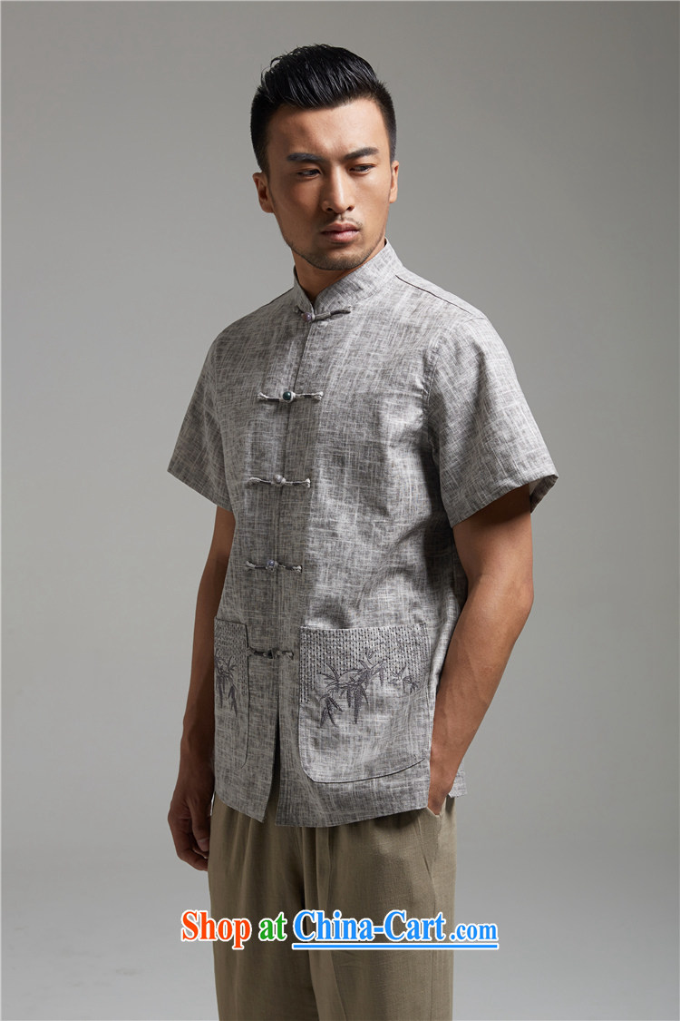 Ask a vegetarian (and, as soon as possible for the charge-back linen Chinese embroidery t-shirt with short sleeves WXZ 1455 gray XXXXL pictures, price, brand platters! Elections are good character, the national distribution, so why buy now enjoy more preferential! Health