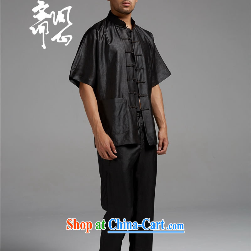 q heart Id al-Fitr electoral and as soon as possible, and new summer, silk, for the charge-back short-sleeved fragrant cloud yarn thin shirt 1433 black XXXL, ask heart ID al-Fitr, shopping on the Internet