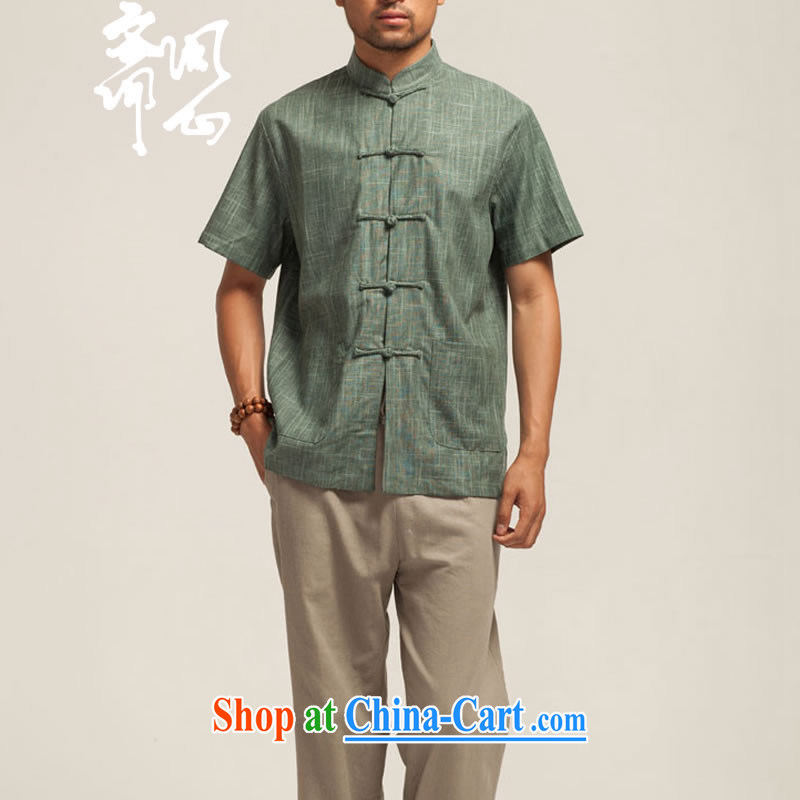 Ask a vegetarian (the health of spring, new products, for relaxed atmosphere short-sleeved short-sleeved Chinese WXZ 1432 army green XXXL