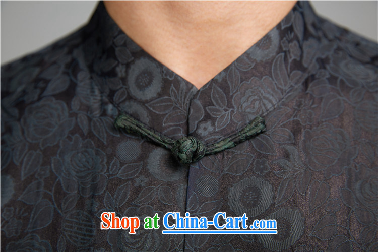 Ask a vegetarian (and as soon as possible with the new summer products, for Hong Kong cloud yarn dark shading short-sleeved Chinese silk shirt 1426 wine red XXXXL pictures, price, brand platters! Elections are good character, the national distribution, so why buy now enjoy more preferential! Health