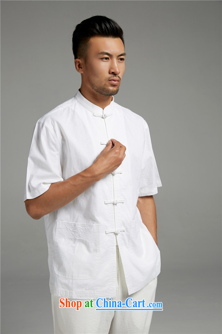 Ask a vegetarian (and as soon as possible with the new summer, men's China wind cotton Ma three-dimensional embroidery short-sleeved Chinese short-sleeved 1414 white XXXL pictures, price, brand platters! Elections are good character, the national distribution, so why buy now enjoy more preferential! Health