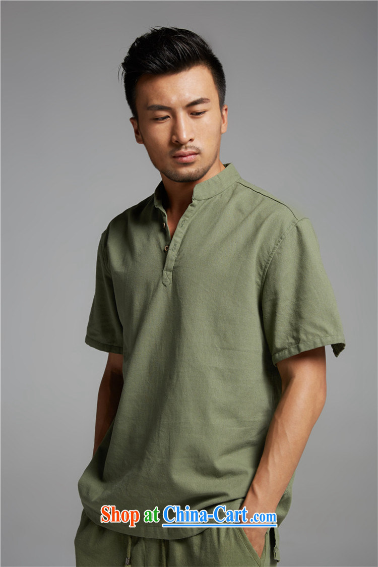 Ask a vegetarian (and as soon as possible with the new summer, cotton Ma V for men's short-sleeved sweater 1381 army green XXXL pictures, price, brand platters! Elections are good character, the national distribution, so why buy now enjoy more preferential! Health