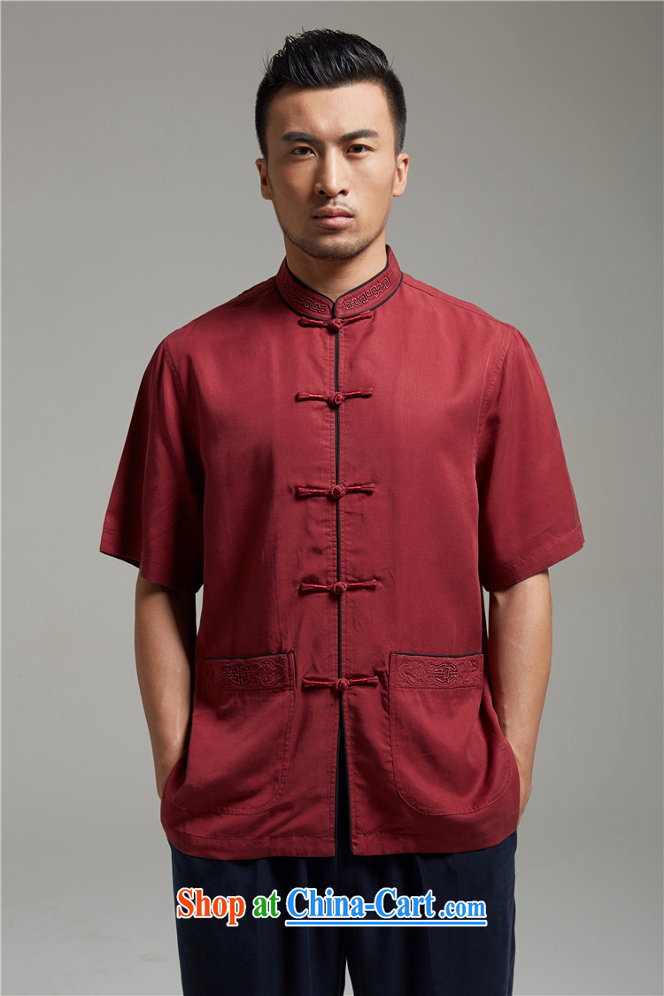 All elections Ramadan's autumn as soon as possible new men embroidery stylish silk Tang replace WXZ 1359 dark red XXL pictures, price, brand platters! Elections are good character, the national distribution, so why buy now enjoy more preferential! Health
