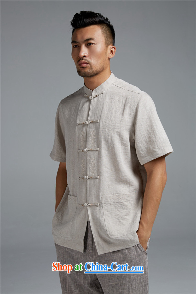 All elections Ramadan's autumn as soon as possible new men China wind embroidery sleek and stylish shirt short-sleeved WXZ 1351 beige XXXL pictures, price, brand platters! Elections are good character, the national distribution, so why buy now enjoy more preferential! Health
