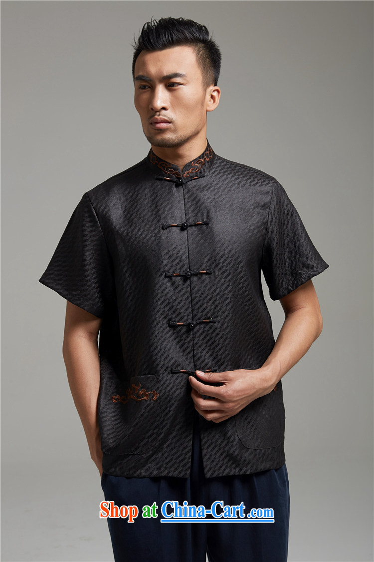 All elections Ramadan's autumn as soon as possible new men's stylish incense cloud yarn shirt short-sleeved Chinese WXZ 1343 black XXXXL pictures, price, brand platters! Elections are good character, the national distribution, so why buy now enjoy more preferential! Health