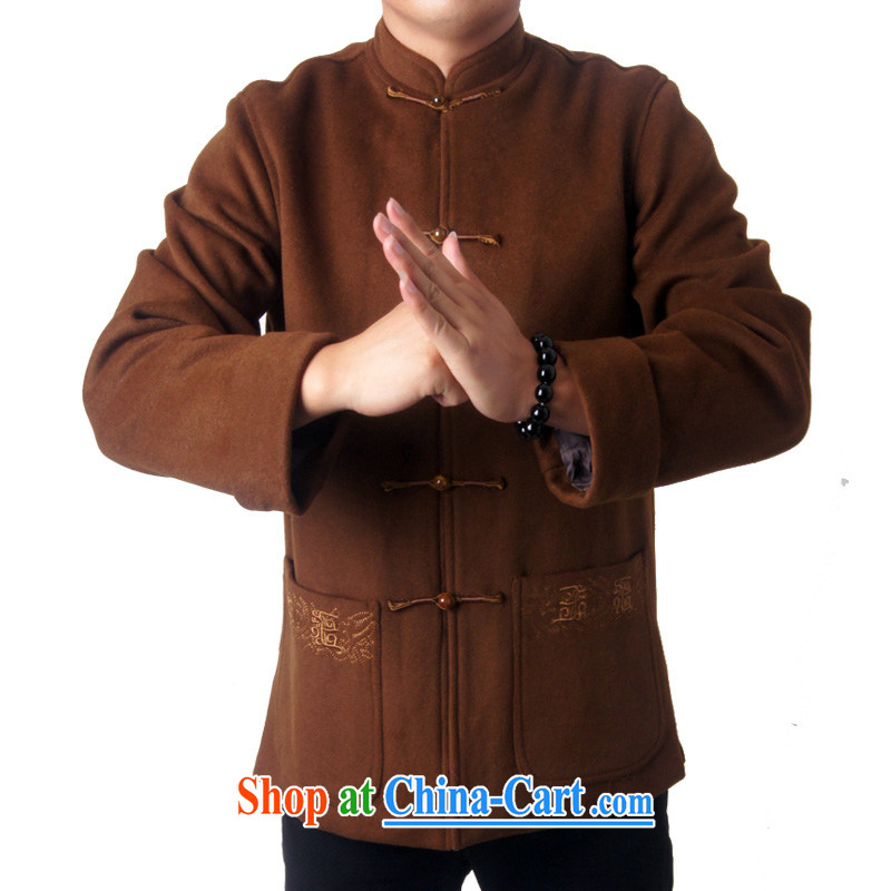 Sureyou men's clothing fall/winter leisure Tang with long-sleeved, older jacket wool Chinese Chinese, who detained 5 Chinese national service promotions 7719, tea-colored 190, the British Mr Rafael Hui (sureyou), online shopping