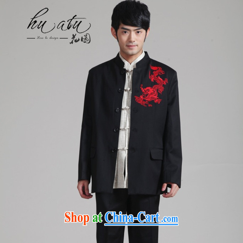 Take the male Tang replace Generalissimo, for Korean Beauty suit fall and winter new jacket, groom wedding dress boy - 2 red embroidery pants 3XL