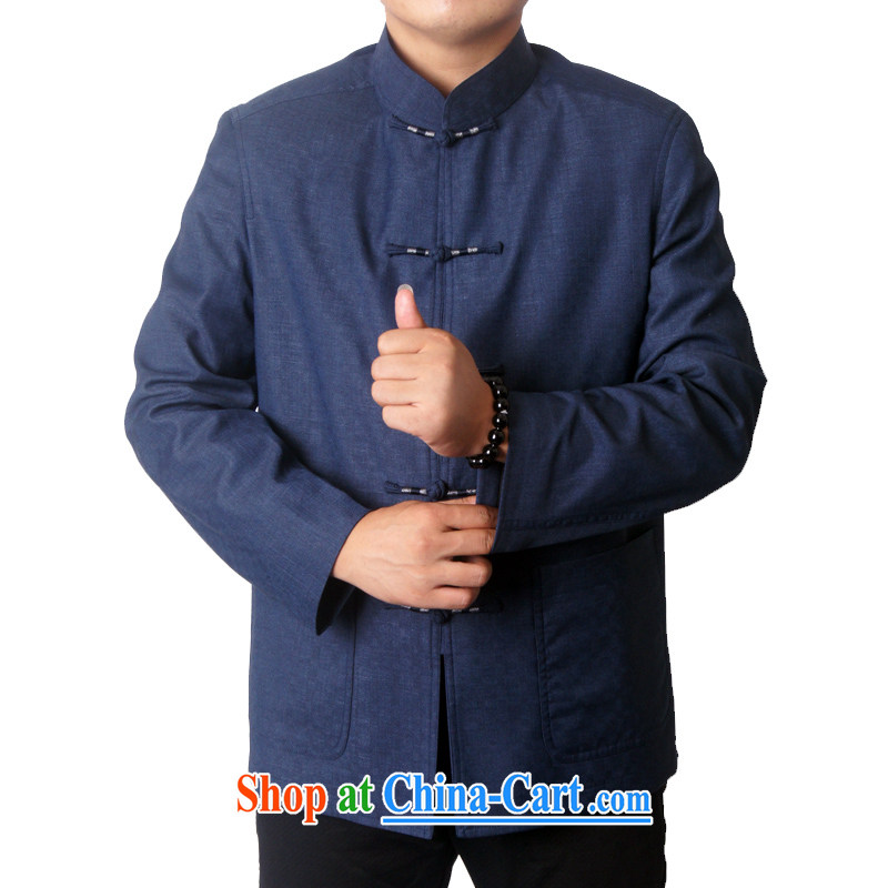 The British, Mr Rafael Hui, men's 14 new fall and winter with long-sleeved Chinese men and Chinese, for the folder and in the older Chinese men Tang jackets 1321 blue 190