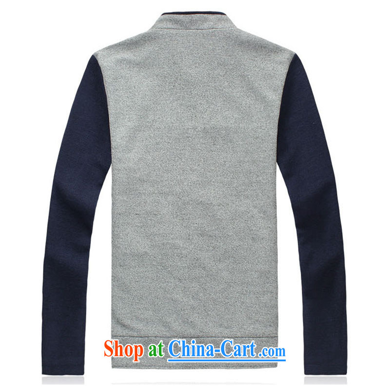 Core i 2015 spring men's sweater men and Korean leisure on T-shirt, for the code jacket men and thin baseball jacket male and 01 JK blue spell hidden cyan 5 XL, Kingfisher sharp forest (breesonly), online shopping