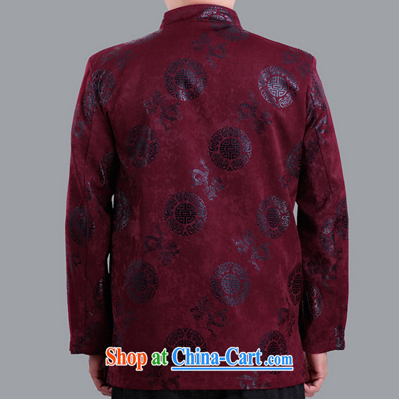 Fall/Winter men and thin cotton long-sleeved Tang jackets, old-field men and Tang with quilted coat, good old fashion 1281 1281 red 190 code quilted winter, Adam, elderly, and shopping on the Internet