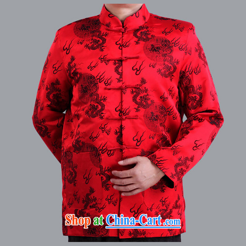 Autumn and Winter Celebration of marriage red Tang jackets in the old life and in the Tang replace old life men and Chinese S 1102 red 190 code quilted winter,