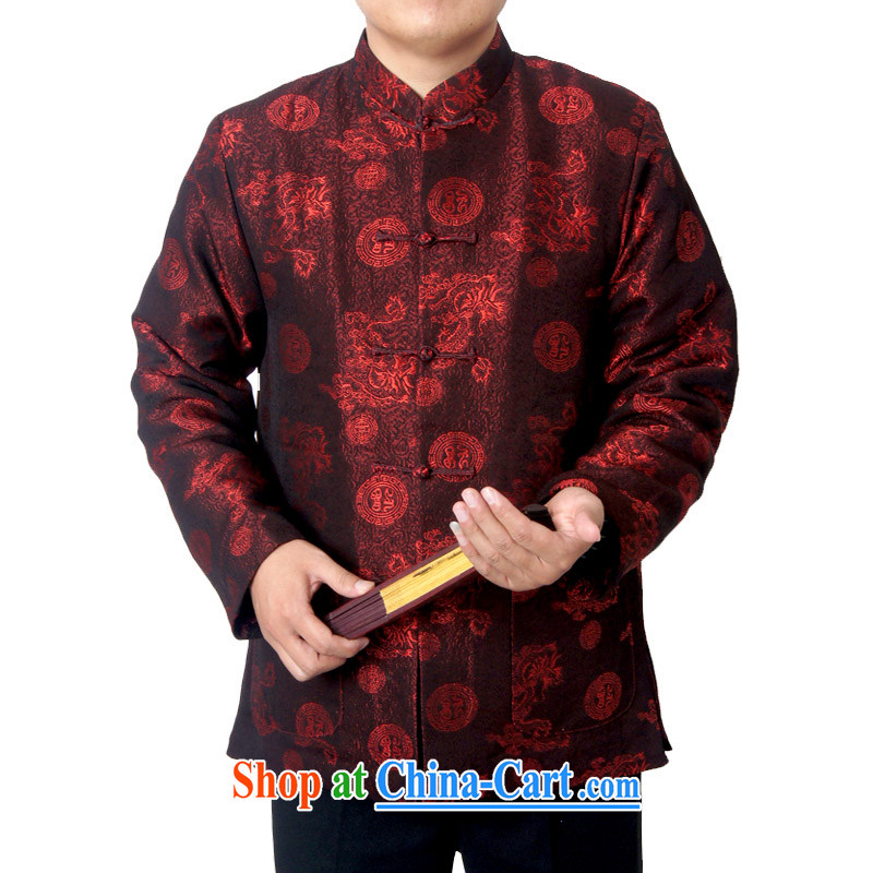 Sureyou men's upscale Chinese Chinese male, for the charge-back Dragon Chinese Spring and replace the older jacket 918, deep red 190