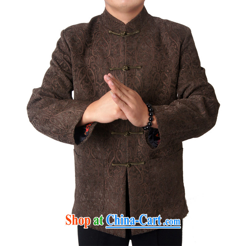 14 New Britain, Mr Rafael Hui, and the autumn and winter, older men's Chinese Chinese national dress jacket China wind 1456, brown 190