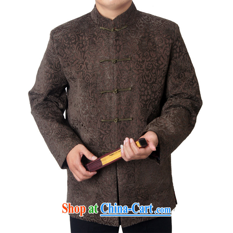 Package Mail-ying, Mr Rafael Hui, the older men's national costumes tang on the father's grandfather winter 14 new thick long-sleeved brown 1457 190