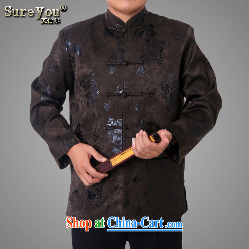 Factory direct new men and Chinese traditions and leisure, for birthday wishes Chinese Dragon Chinese Birthday brown 180