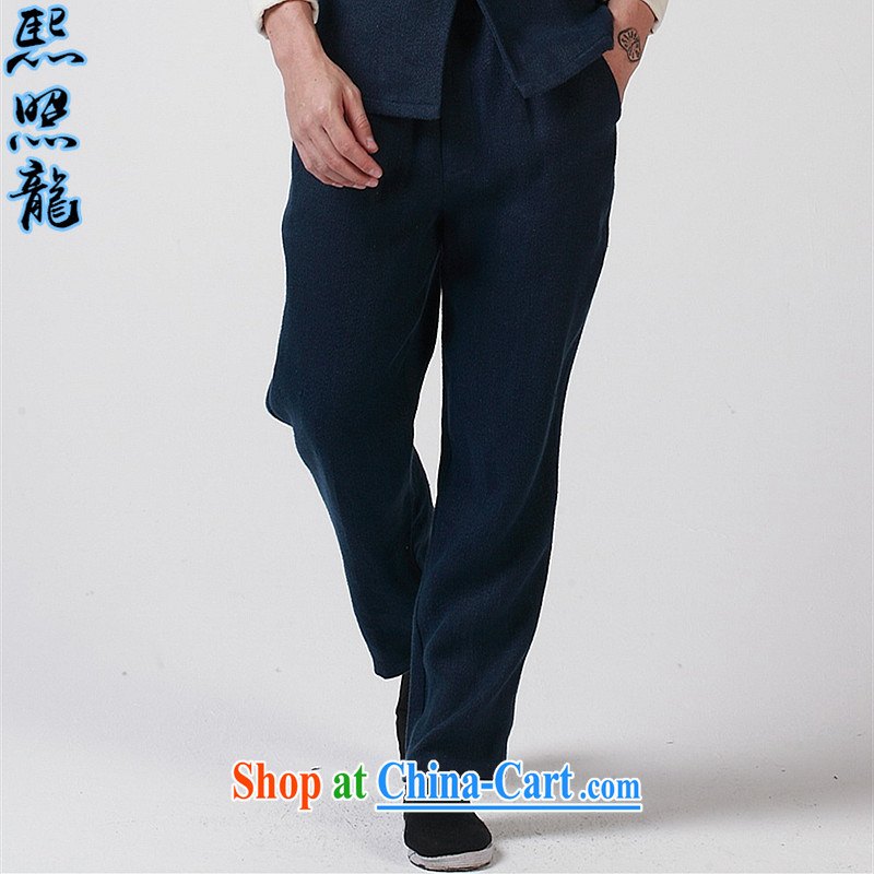 Mr Chau Tak-hay, as high-end thick, the men have been relaxed and Trouser Press 2015 Spring and Autumn new liberal Chinese elasticated trousers