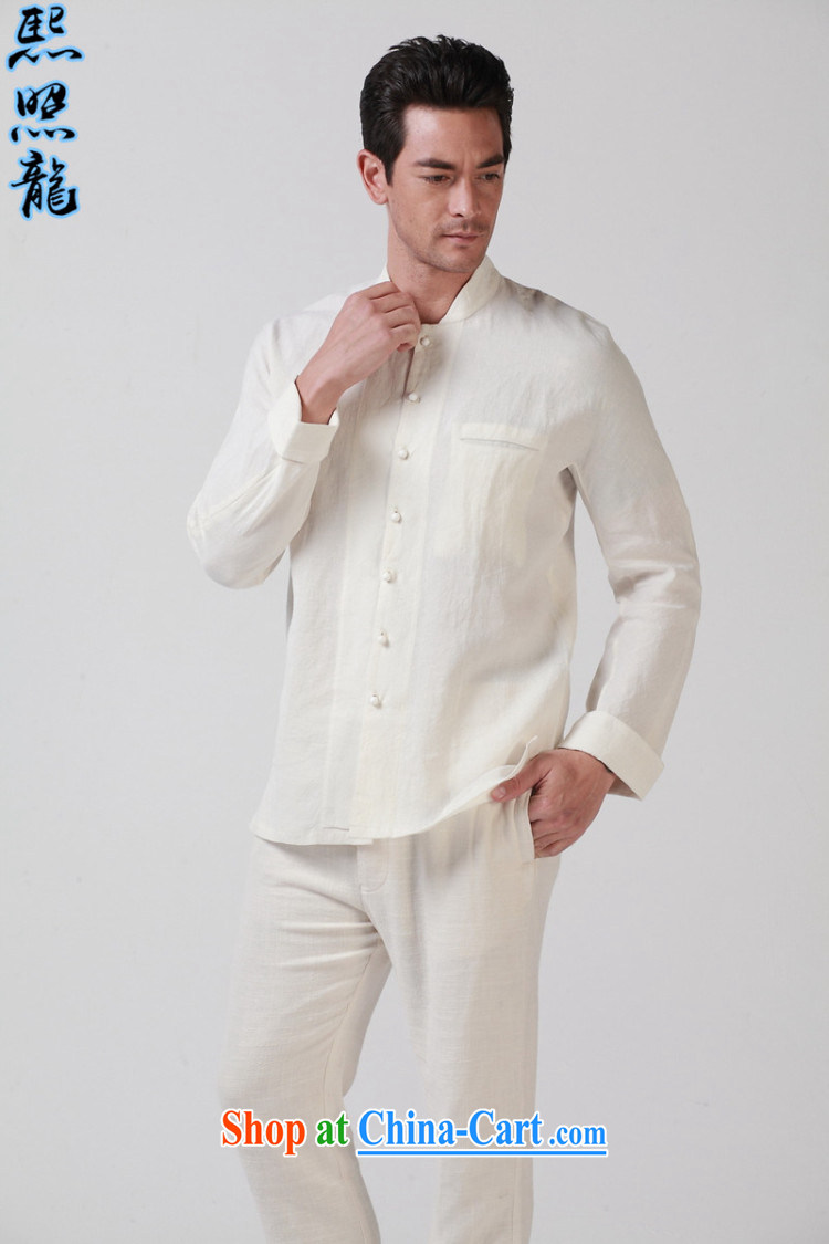 Mr Chau Tak-hay, snapshot original Buddhist 7 PO and crucial tie men loose Chinese solid long-sleeved shirt Chinese shirt white XL pictures, price, brand platters! Elections are good character, the national distribution, so why buy now enjoy more preferential! Health