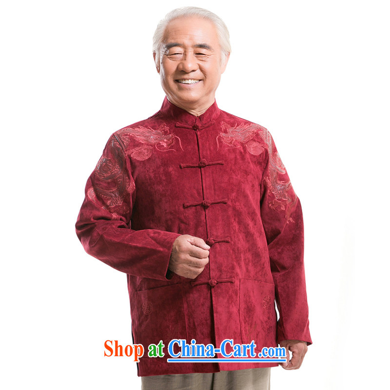 0983 F New Howard Young Hearts, Mr Henry Tang, replace older autumn and winter with short T-shirt men Tang red the life of red XXXL_190