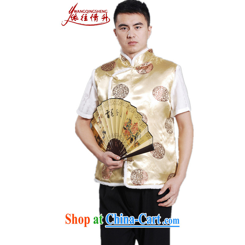 In accordance with the conditions and the older men's autumn and winter fashion new products, for embroidered single row for my father the Tang mounted unit A - D #2 XL