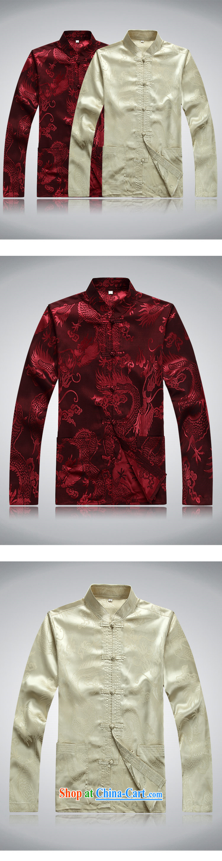 Top Luxury Tang with long-sleeved men and 2014 new men's jackets jacket National wind-buckle older Chinese T-shirt Dad jacket men Tang black long sleeved M/165 pictures, price, brand platters! Elections are good character, the national distribution, so why buy now enjoy more preferential! Health