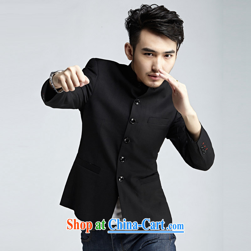 The eon 2015 spring New Products jacket male and a collar small suit Korean smock casual suit jacket men cultivating single suit 0036 General 58
