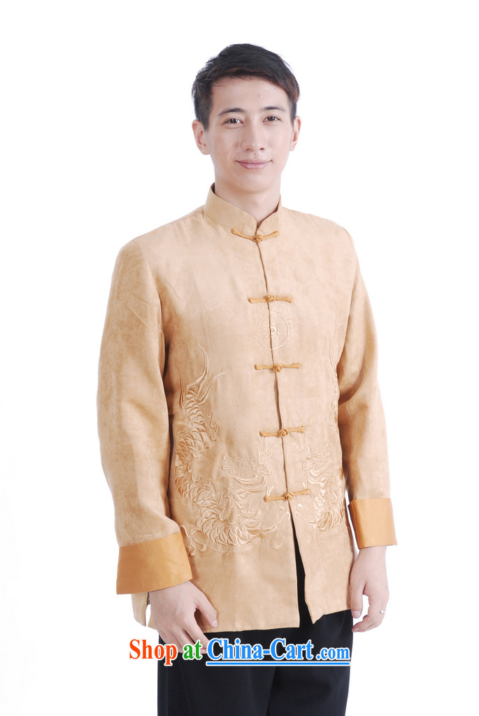Spend the autumn and winter, the male Tang is a leading Chinese improved long-sleeved smock chicken skin lint-free national Tang jacket coat 46 green XL pictures, price, brand platters! Elections are good character, the national distribution, so why buy now enjoy more preferential! Health
