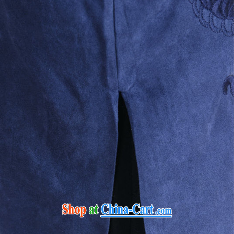 Spend the autumn and winter, the male Tang is a leading Chinese improved long-sleeved smock chicken, lint-free cloth national Tang jacket coat 46 green XL, figure, and, shopping on the Internet