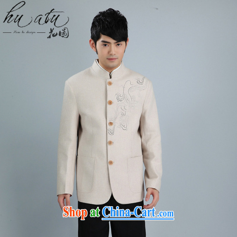 Spend the autumn and winter, the male Tang replace Generalissimo, for Korean wool suits clothing Chinese clothing - 4 white 3XL