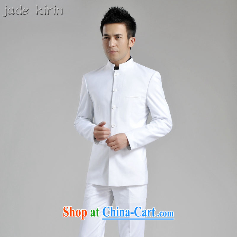 New smock male and, for Chinese people wore white jacket men's beauty retro suit package China wind ZS 120,102 white 180_XXL_pants 33 code