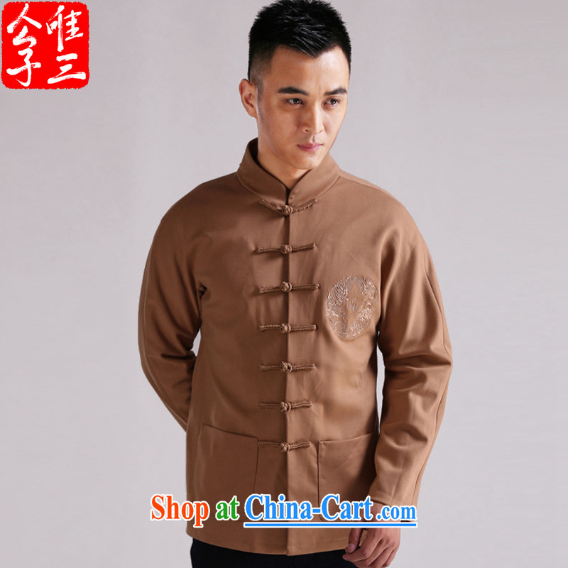 Only 3 Chinese style bedroom, the charge-back style improved Chinese Embroidery Dragon Sau San national costumes male Youth Chinese jacket and color movement _XXL_
