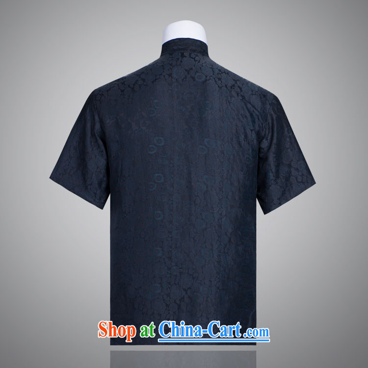 blue rose Tang with men and a short-sleeved fragrant cloud yarn Man Tang in older short-sleeved fragrant cloud yarn such as the 185/100, XXXL) pictures, price, brand platters! Elections are good character, the national distribution, so why buy now enjoy more preferential! Health