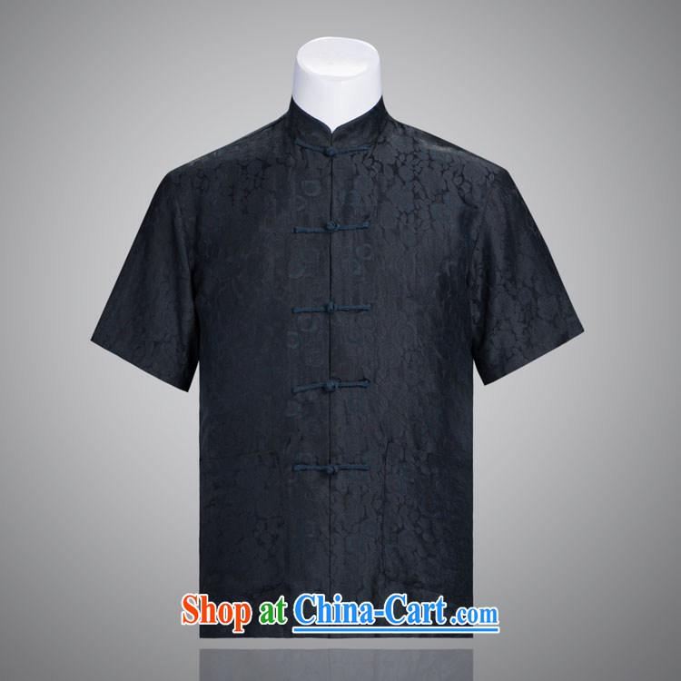 blue rose Tang replacing men and short-sleeved fragrant cloud yarn men Tang in older short-sleeved fragrant cloud yarn such as the 185/100, XXXL)