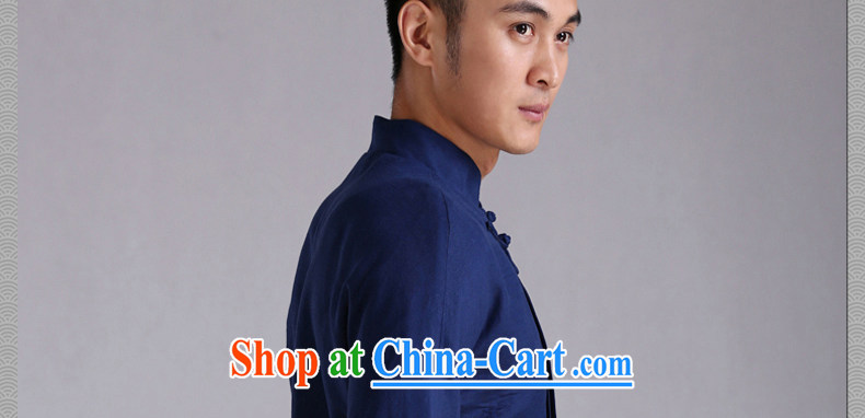 Only 3 Chinese wind is see Chinese men and cultivating Chinese Dress Casual cotton linen clothing Nepal meditation jacket blue movement (XXL) pictures, price, brand platters! Elections are good character, the national distribution, so why buy now enjoy more preferential! Health