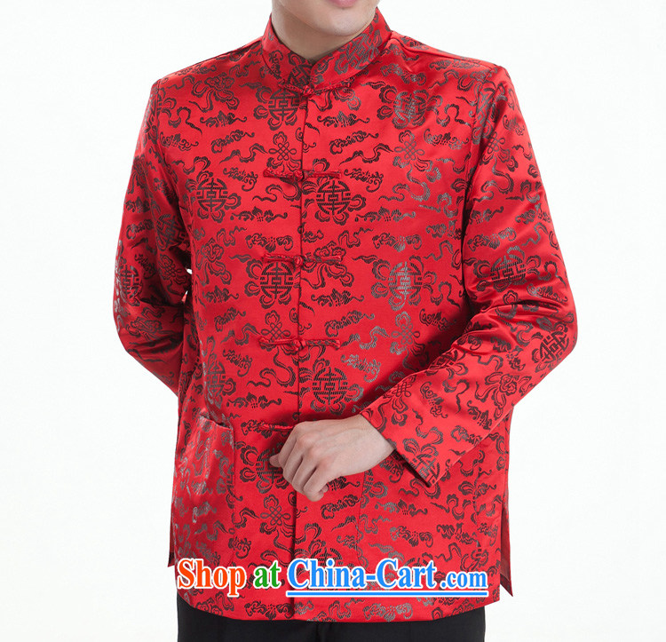 Sang-hee-tang with men and men's Chinese brocade coverlets Tang replace Tang with long-sleeved Tang with autumn and winter, older red (winter clothes folder cotton) 185 / 104 (XXXXL) pictures, price, brand platters! Elections are good character, the national distribution, so why buy now enjoy more preferential! Health