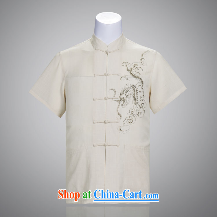 Really, men with short summer short-sleeve upscale cotton Ma Ethnic Wind Chinese, served a very thin and light breathable white 185_104 _XXXXL_