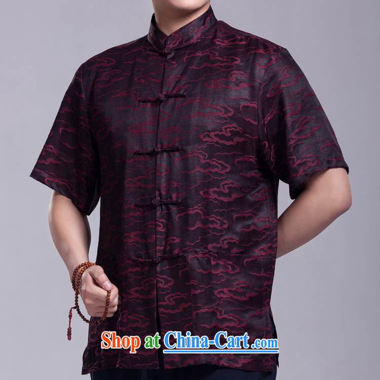 Xiangyun fragrant cloud yarn Tang replacing men short-sleeved summer older silk shirt such as the 185 _ 104 _XXXL_