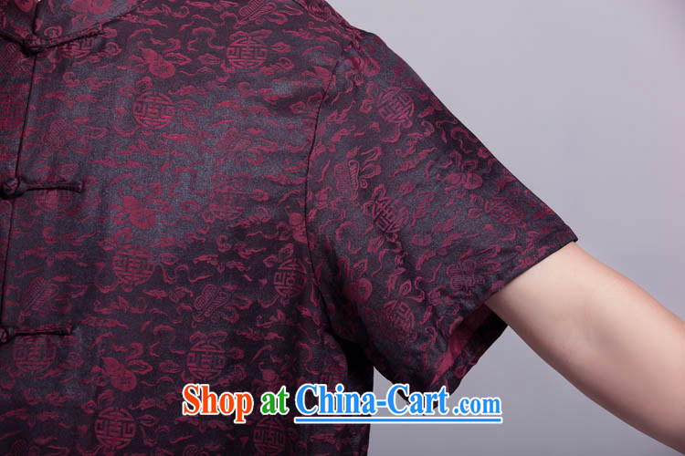 Eric Li Zhu Qingsheng male Chinese summer short-sleeved fragrant cloud yarn silk shirts, older upscale Chinese Dress such as the 185/104, XXXL) pictures, price, brand platters! Elections are good character, the national distribution, so why buy now enjoy more preferential! Health